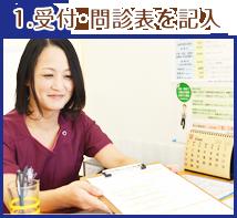 受付・問診表を記入
