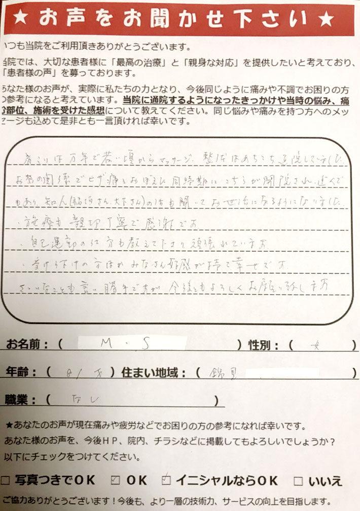 錦見 81歳 女性 M.S